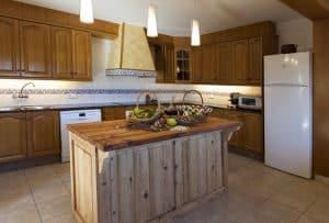 La cocina de Cal Ponç de Belians en Vallcebre
